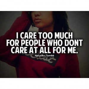 care too much