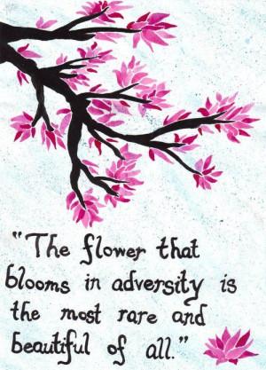 Cherry blossom tattoo Mulan quote