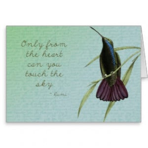 Touch the Sky Hummingbird Greeting Card