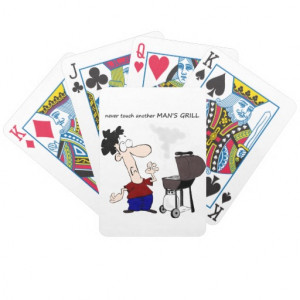 Funny Barbecue Cookout Quote Cartoon Cook Bicycle Poker Cards