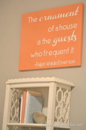 guest-room-art- What a wonderful, warm quote for the special guest in ...