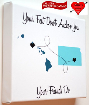 Map Gift: Going Away Present Best Friend Gift Ideas Most Popular Quote ...