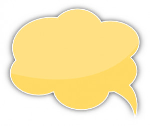 Share speech bubble cloud yellow left clipart with you friends!