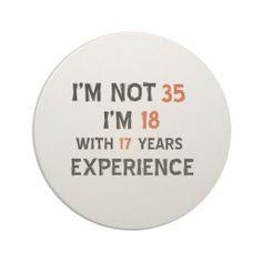 35th birthday designs coasters More