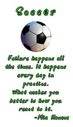 soccer, mia hamm, quotes, sayings, failure, motivational quote ...