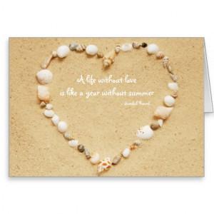 Seashell Heart Love Quote Card