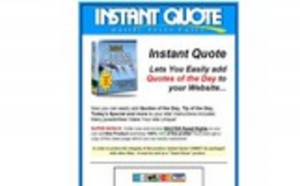 Pay for Instant Quote - Add Quotes of The Day To Your Website