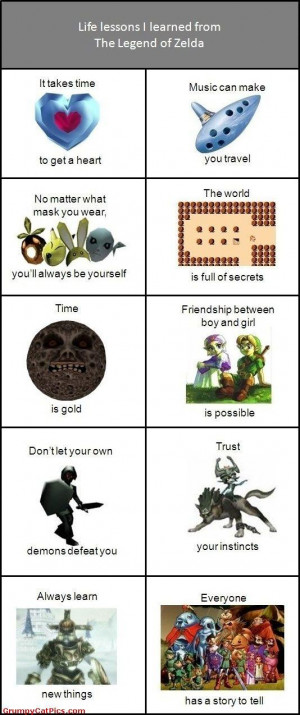 The Life Lessons I Learned From The Legend Of Zelda Funny Pictures