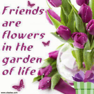 Nice Friendship Quotes-Friends are Flowers..