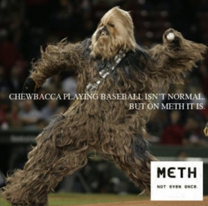 Unless you want to see Chewbacca playing baseball. Because apparently ...