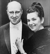 Mstislav Rostropovich con Galina Vishnevskaya, star del Bolshoi