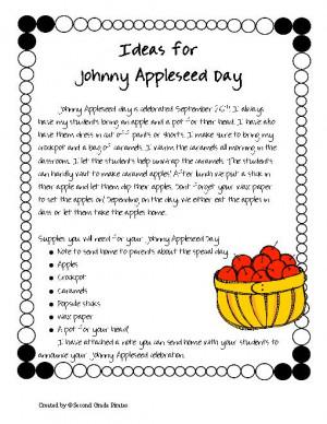 johnny appleseed minibook