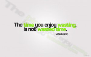 ... came across the quote from John Lennon above and I just love it