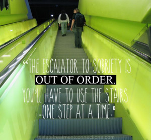 ... sobriety! #sobriety #soberquote #escalator #outoforder #quotes #funny