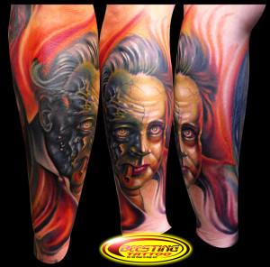John Wayne Beesting Tattoo