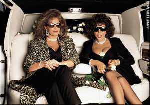 JACKIE AND JOAN COLLINS DO THE LIMOUSINE