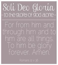 Reformation Day {Soli Deo Gloria}