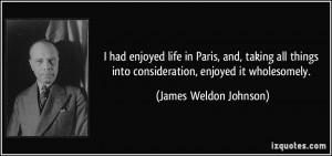 More James Weldon Johnson Quotes