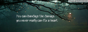 you can bandage the damage , Pictures , you never really can fix a ...