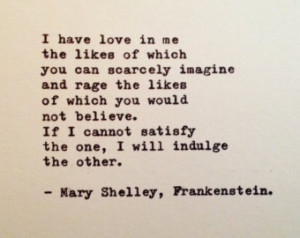 mary shelley frankenstein quotes Frankenstein Quotes