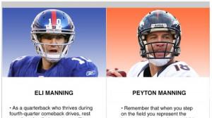 Peyton Manning vs Eli Manning