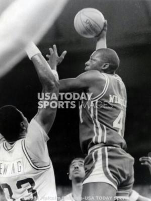 Patrick Ewing and Rickie Winslow (Houston)Ewing Georgetown, Georgetown ...