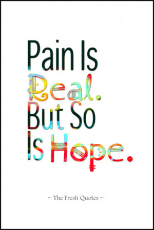 Mental Health- Pain Is Real. But So Is Hope.