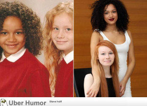 These two women are twins; biological sisters parented by white father ...