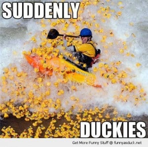 rafter rafting boat suddenly rubber ducks attacked toys bath funny ...