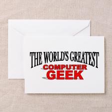 Computer Geek Birthday Greeting Cards