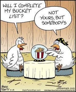 Funny Chicken Funeral KFC Coffin Cartoon