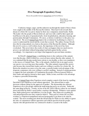 5 paragraph expository essay