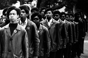 Black Panther Party uniform. Photo by Stephen Shames .