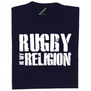 Womens Rugby Quotes Rugby is my religion womens