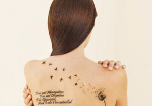 Dandelion Tattoos On Foot With Quotes Luckypennies-tattoo.jpg