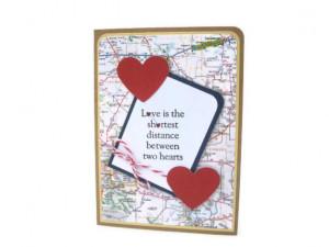 long distance love card, i love you card, i miss you card, heart card ...