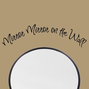 Mirror-Mirror-on-the-Wall-Vinyl-Decal-Quote-Girls-Room-Vinyl-Lettering ...