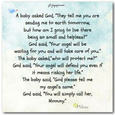 Baby Asked God They Tell Me You Are Sending Me To Earth Tomorrow But ...