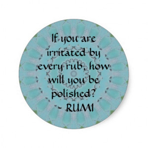 Inspirational quotations and Sayings Mevlana Rumi Sticker