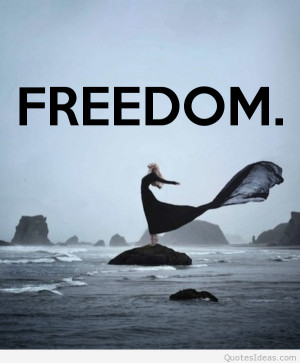 Freedom quotes with wallpapers images