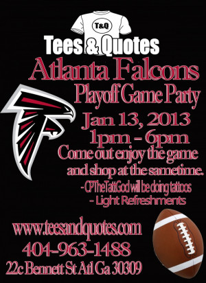 ... Falcons , falcons playoff game , game day party , tees & quotes
