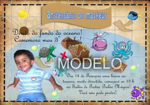 Convite Infantil Mapa Fundo Do Mar Pode Ser Adaptado Em Qualquer
