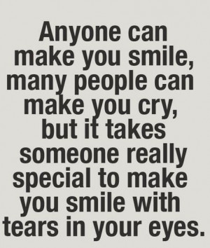 love quotes – anyone can make you smile, many people can make you ...
