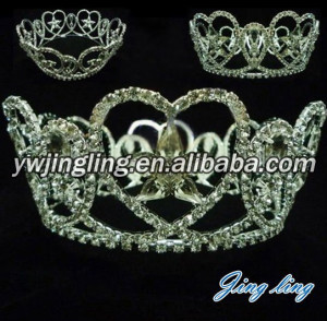 Full round beauty crown for queen kings crown