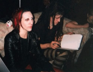 Marilyn Manson Twiggy Ramirez and Ginger Fish who is resting on the ...
