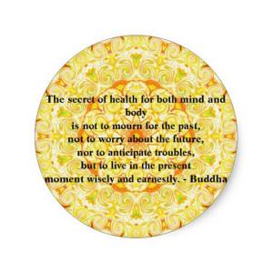 Beautiful Buddhist Quote with Vibrant Mandela Classic Round Sticker