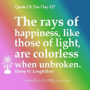 Quotes about happiness happiness quote of the day the rays of ...