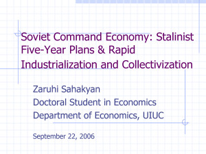 Soviet Command Economy Stalinist Five-Year Plans Rapid - PowerPoint