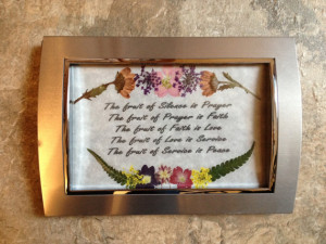 Religious Quotes - Framed Quote Art and Pressed Flowers