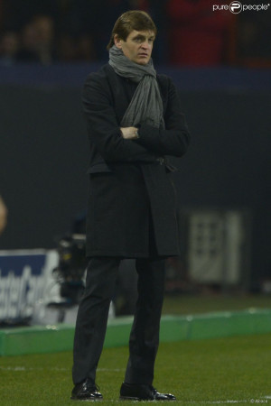 Tito Vilanova le 2 avril 2013 aiu Parc des Princes lors du quart-de ...